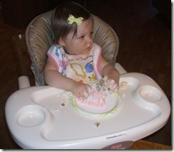 abigail and cake