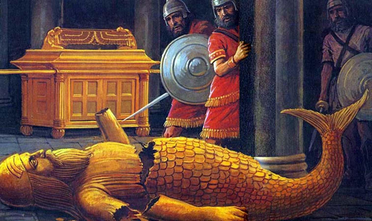 dagon-cae-ante-el-arca-de-jehova